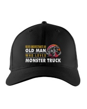 hat monster truck old man Embroidered Hat front