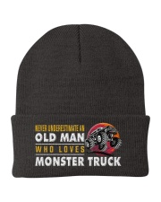 hat monster truck old man Knit Beanie thumbnail
