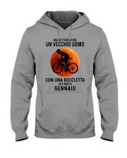 01 cycling old man italy Hooded Sweatshirt tile