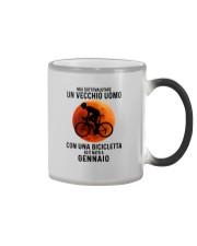 01 cycling old man italy Color Changing Mug tile