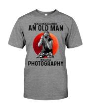 09 hat camera old man Premium Fit Mens Tee tile