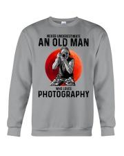 09 hat camera old man Crewneck Sweatshirt tile