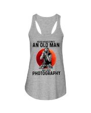 09 hat camera old man Ladies Flowy Tank tile