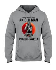 09 hat camera old man Hooded Sweatshirt tile