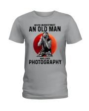 09 hat camera old man Ladies T-Shirt tile