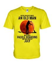 07 paddle boarding V-Neck T-Shirt tile
