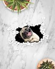 Pug Sticker - Single (Horizontal) aos-sticker-single-horizontal-lifestyle-front-06