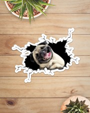 Pug Sticker - Single (Horizontal) aos-sticker-single-horizontal-lifestyle-front-07