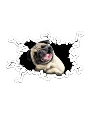 Pug Sticker - Single (Horizontal) front