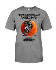 09 hat hockey old man Premium Fit Mens Tee tile
