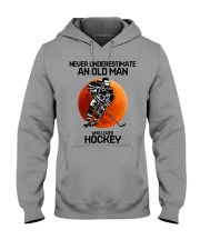09 hat hockey old man Hooded Sweatshirt tile