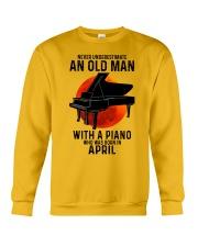 04 piano never old man Crewneck Sweatshirt tile