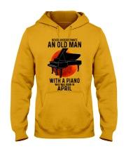 04 piano never old man Hooded Sweatshirt tile