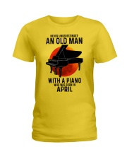 04 piano never old man Ladies T-Shirt tile