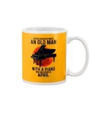 04 piano never old man Mug tile