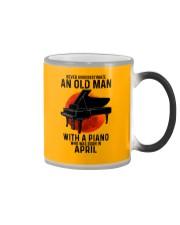 04 piano never old man Color Changing Mug tile