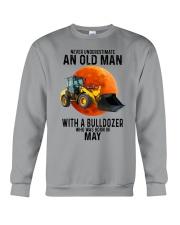 05 bulldozer old man color Crewneck Sweatshirt tile