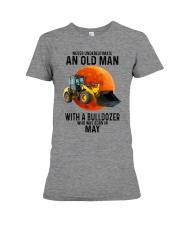 05 bulldozer old man color Premium Fit Ladies Tee tile