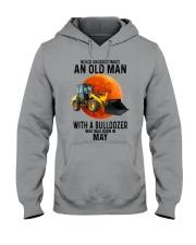 05 bulldozer old man color Hooded Sweatshirt tile