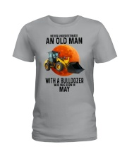 05 bulldozer old man color Ladies T-Shirt tile