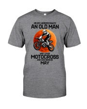 5 motocross old man Classic T-Shirt front