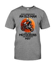 5 motocross old man Premium Fit Mens Tee tile