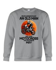 5 motocross old man Crewneck Sweatshirt tile