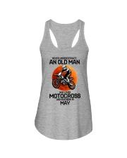 5 motocross old man Ladies Flowy Tank tile
