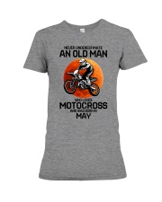5 motocross old man Premium Fit Ladies Tee tile