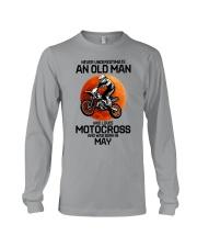 5 motocross old man Long Sleeve Tee tile