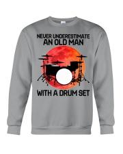 11 hat drum set old man Crewneck Sweatshirt tile