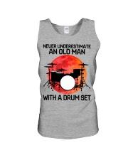 11 hat drum set old man Unisex Tank tile