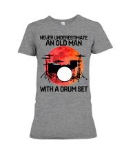 11 hat drum set old man Premium Fit Ladies Tee tile