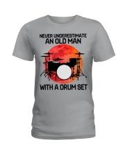 11 hat drum set old man Ladies T-Shirt tile