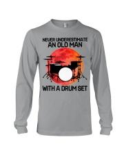 11 hat drum set old man Long Sleeve Tee tile