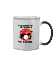 11 hat drum set old man Color Changing Mug tile