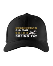 hat boeing 747 old man Embroidered Hat front
