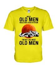Formula Racing Most Old Men  V-Neck T-Shirt tile