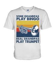 Trumpet Some Grandpas V-Neck T-Shirt tile