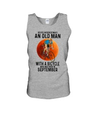 09 cycling old man color Unisex Tank tile
