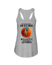 09 cycling old man color Ladies Flowy Tank tile