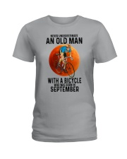 09 cycling old man color Ladies T-Shirt tile