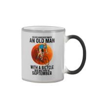 09 cycling old man color Color Changing Mug tile