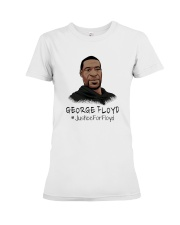 George Floyd - Justice For Floyd Premium Fit Ladies Tee thumbnail