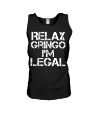 Relax Gringo I'm Legal Funny Immigration Unisex Tank thumbnail