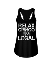 Relax Gringo I'm Legal Funny Immigration Ladies Flowy Tank thumbnail