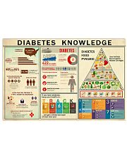 Diabetes Knowledge 17x11 Poster front