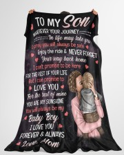 """To My Son - I Love You Forever Always Large Fleece Blanket - 60"""" x 80"""" aos-coral-fleece-blanket-60x80-lifestyle-front-10"""