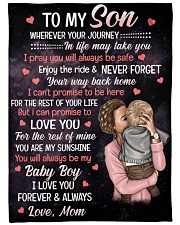 """To My Son - I Love You Forever Always Large Fleece Blanket - 60"""" x 80"""" front"""