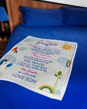 "To My Son Small Fleece Blanket - 30"" x 40"" aos-coral-fleece-blanket-30x40-lifestyle-front-02"